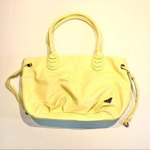 Roxy Yellow Vegan Leather Satchel Shoulder Bag